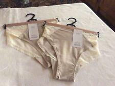 M&S Size 20 Ladies x 2 BRAZILIAN Knickers Cream Mix Beautiful Sporty Lace BNWT