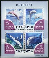 SOLOMON ISLANDS DOLPHINS  SHEET OF FOUR MINT NH