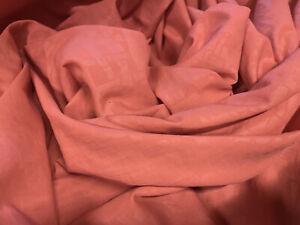 Woven Powder Touch  Dress Fabric, Per Metre - Coral Geometric Print