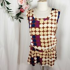 Marni Women's Tunic Top Silk HM 12 Limited Edition Tank Top