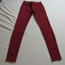 Hot Topic Lovesick Red Stretch Skinny Ankle Jeans Size 1 : 7429