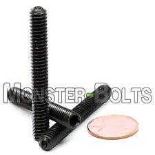 "1/4-20 x 2"" - Qty 10 - Socket SET / GRUB SCREWS Cup Point  Black Alloy Steel"