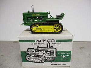"SpecCast John Deere Model MC Toy Crawler ""1995 Plow City Show"" 1/16 Scale, NIB"