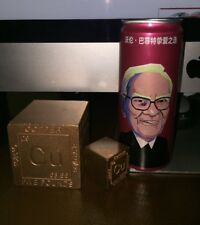 Warren Buffet Coca Cola Empty Unopened Can Cherry Coke Berkshire Hathaway