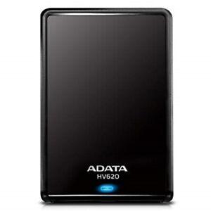 NEW ADATA HV620S 2TB Black SLIM External HDD Storage Portable USB 3.1 Hard Drive