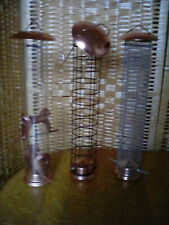 LARGE COPPER BIRD FEEDERS TRIPLE PACK - NEW