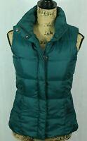 Eddie Bauer Premium Goose Down Vest Women's XS Quilted Puffer Full Zip Pockets