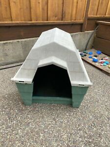 Dog House Large Green and Gray