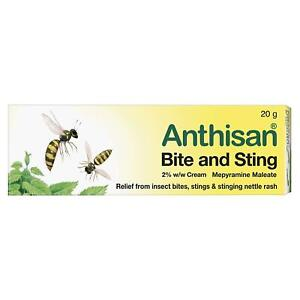 Insect Bite & Sting Cream, Relief Pain, Itching & Inflammation - 20 g Anthisan