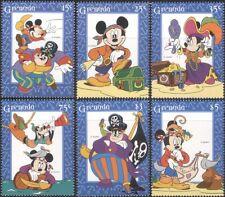 Grenada 1995 Disney/Pirates/Mickey/Minnie/Goofy/Cartoons/Animation 6v set d00273
