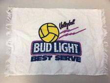 "Vintage Bud Light Volleyball Best Serve 100% Cotton Towel 18"" x 12"" Budweiser"
