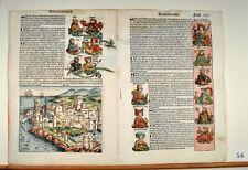 Schedel Weltchronik 1493 Doppelblatt 25 / 26 Rhodos Linea Christi Stammbaum