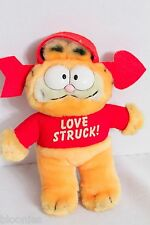 "Garfield 8"" Lovestruck Suction Cup Plush Toy Doll 1981 Teleflora"
