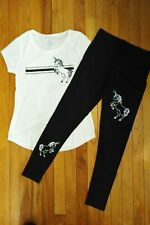 NWT Justice Girls Unicorn Top/Leggings Size 14 16