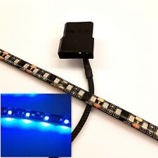 BLUE LED PC CASE LIGHT(SINGLE 30CM BRIGHTER STRIP) MOLEX 60CM SHEATHED TAIL