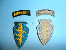 b3643 US Army Vietnam SF Special Forces patch Cut edge w/ Airborne tab Teal
