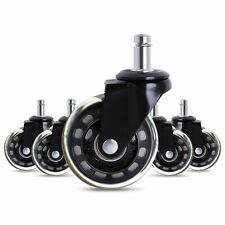 2.5 inch Chair Caster Wheels Roller Rollerblade Style Castor Wheel Replacement