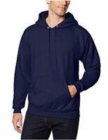 Hanes Men's Pullover EcoSmart Fleece Hoodie, Navy, Medium, Navy, Size Medium