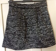 Armani Exchange Silver Black Skirt NEW S/P