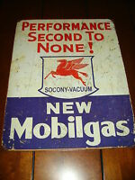 MOBIL OIL - GAS SIGN -OFFICIAL LICENSED PRODUCT --BRAND NEW METAL SIGN--