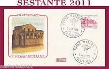 ITALIA FDC ROMA I VESPRI SICILIANI ANNULLO MATERA 1982 G872