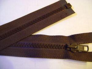 Fermeture Eclair Coloris Vert Kaki 65 cm Séparable Ouvrable maille 5 mm largeur