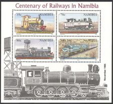 Namibia 1995 Steam Engine/Trains/Rail/Railways/Transport reprint 4v m/s (b7766)