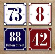 Personalised Metal House Number Sign - Traditional French Style Sign 03