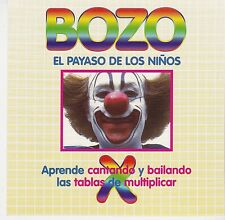 BOZO El Payaso De Los Ninos CD Español Bozo The Clown Mexican Children's Kids