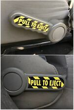 PULL TO EJECT Decal / Sticker Set for Jeep Wrangler JK, JKU, Sahara, Rubicon, SE