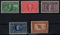 P126831/ UNITED STATES – SCOTT # 323 / 327 COMPLETE MINT – CV 730 $