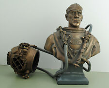 Deep Sea Diver US MkV 'JAKE' Bust Vintage Hard Hat Rig Army & Navy Diving Helmet