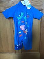 Boys BNWT Peppa Pig Sun Protection Swimsuit UPF 50+ 2-3 Years