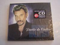 CD SINGLE DE JOHNNY HALLYDAY . 2 TITRES . PARTIE DE CARTES . NEUF SOUS BLISTER .