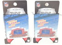 Set of 2 Super Bowl XLVI Indianapolis 2012 Can Koozie Insulated Can Sleeve