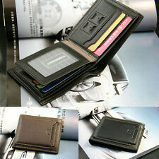 Men's Bifold Leather ID Credit Card Holder Pocket Money Purse Clutch Wallet