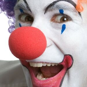 """1 - New Red 2"""" Foam Clown Nose - Circus Costume Carnival Party Favor Sponge"""