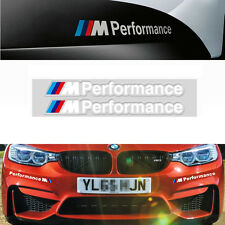 1Pair White M Color Performance Sports Decal Side Auto Car Badge Sticker For BMW