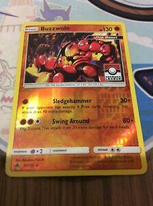 Pokemon TCG - BUZZWOLE - Pokemon League - Holo Rare - Forbidden Light 77/131