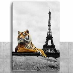 Painting Fabric Printed - Tiger Paris Eiffel Tower - TP-01 - Painting Ink