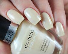 Cuccio color SO Sofia Suave Amarillo Blanco Beis Nude Crema Esmalte de uñas Laca