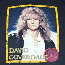 VTG 1990 WHITESNAKE DAVID COVERDALE Tour Concert Black Rock Band T-Shirt Mens XL
