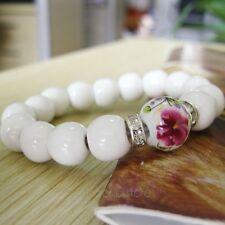 Original Keramik Schmuck Porzellan Perlen Armband Armreif Frauen Geschenk