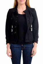 Dsquared2 Wool Black Button-Down Women's Basic Jacket US S IT 40