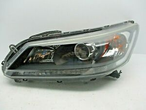 OEM 2013 2014 2015 Honda Accord LEFT Headlight HALOGEN NON LED SEDAN