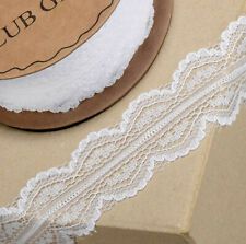 WHITE LACE RIBBON WITH SCALLOPPED EDGE 30mm x 5 METERS CRAFTS CAKE DRESSMAKING