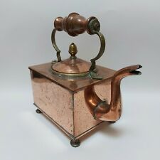More details for a rare victorian copper & brass rectangle kettle stamped vr c. 1840-1860