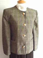 BROWN AND GREEN CHECK LEAD REIN JACKET SIZE 14