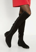 BNIB LK Bennett Black Annabell Size 38 UK 5 Suede Over the Knee Boots RRP £395