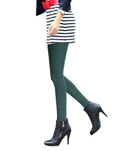 Ladies plus size warm wool tights thick pantyhose for winter blue emerald green